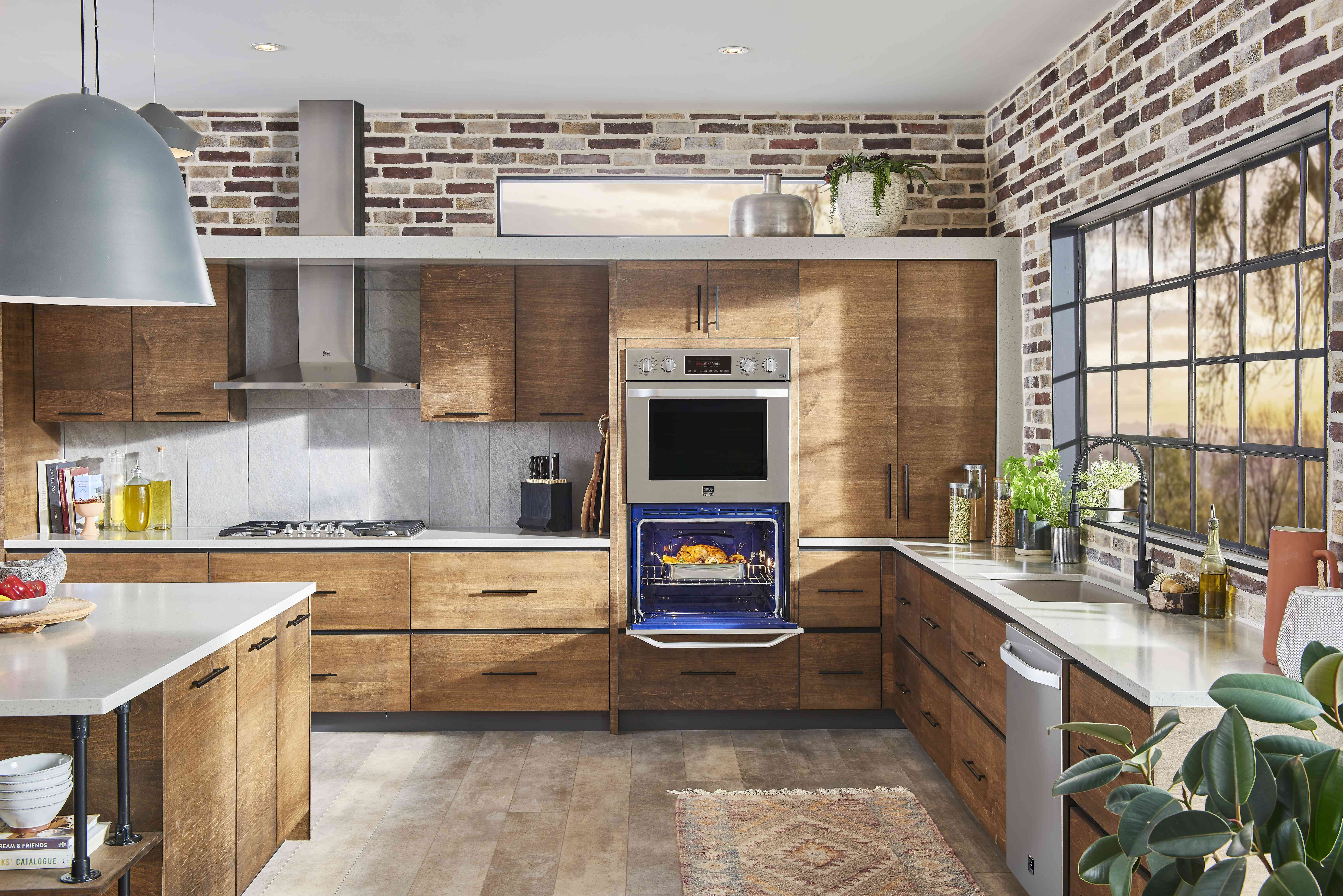 Kitchen with built in LG Studio oven