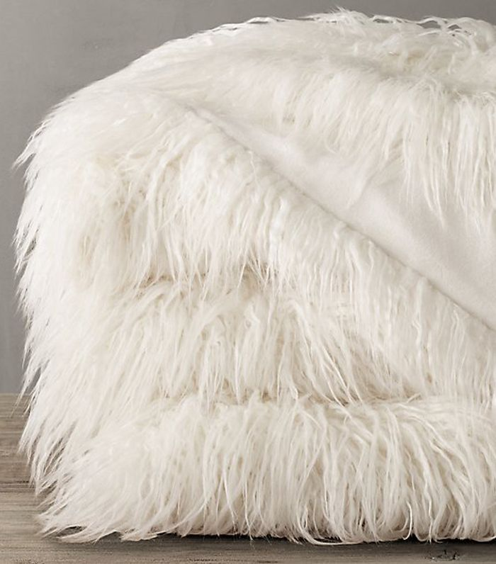 Restoration Hardware Tibetan faux Fur Throw