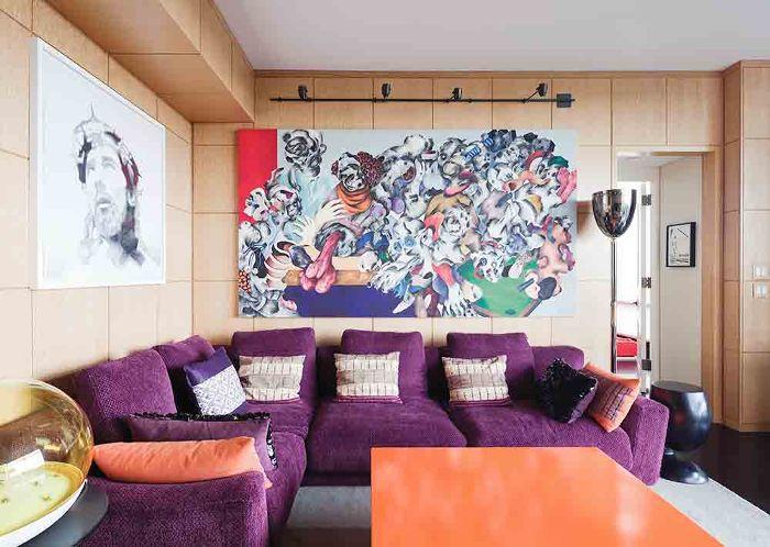 Esquemas de color de la sala de estar - Naranja