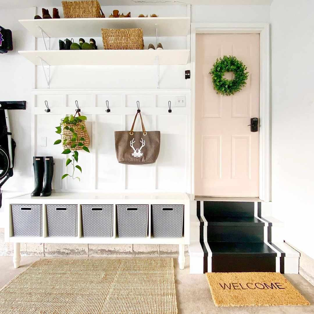 Mud room in the garage