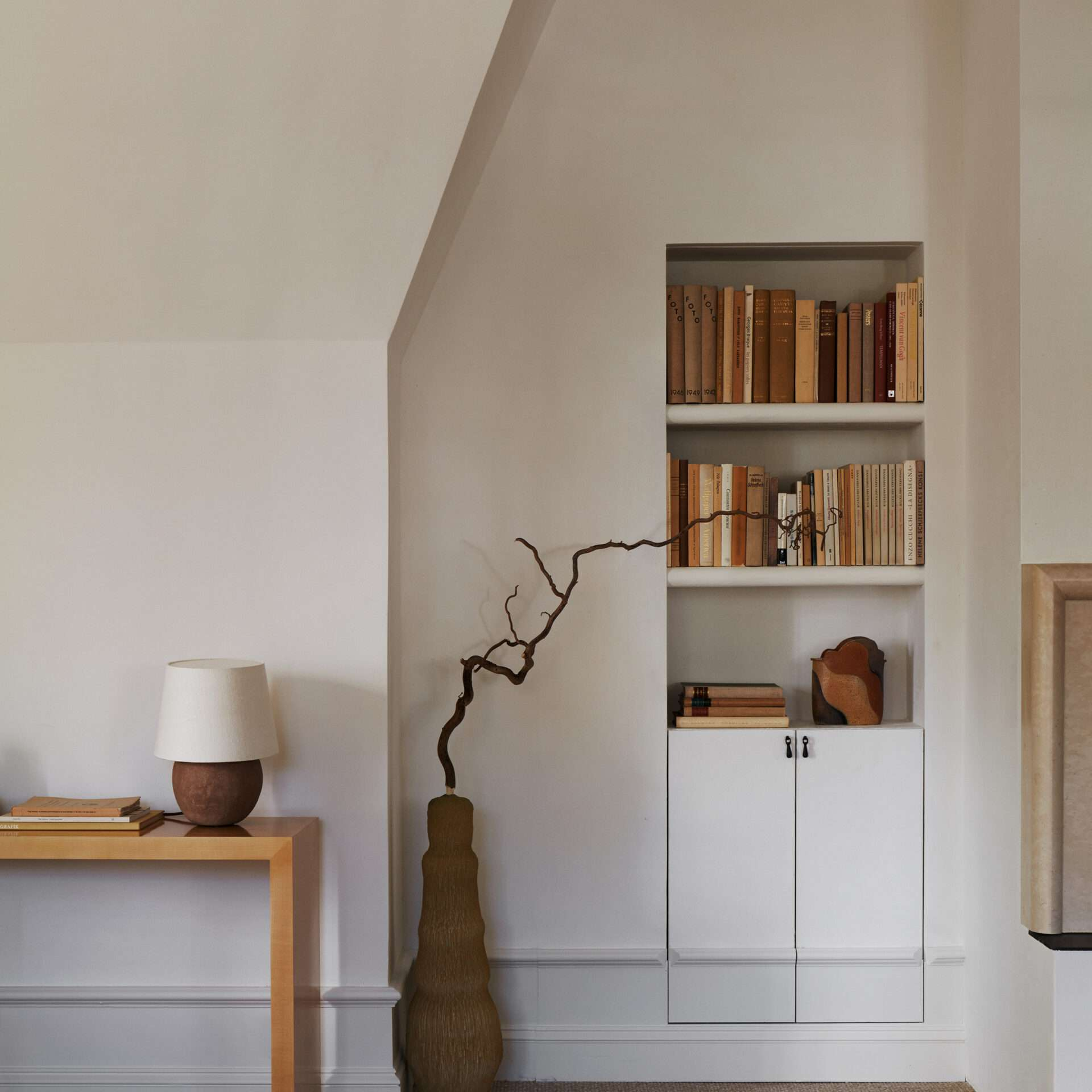 Books in a wall nook