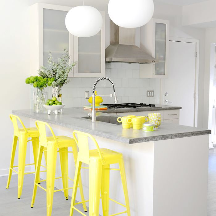 Yellow Kitchen Barstools