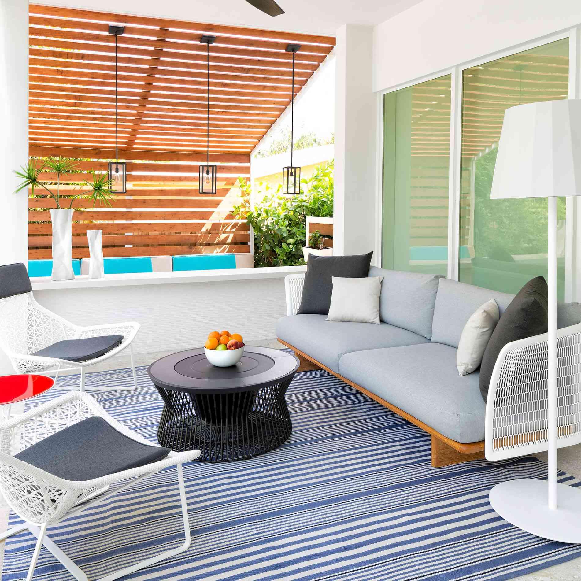 fan outdoor living room