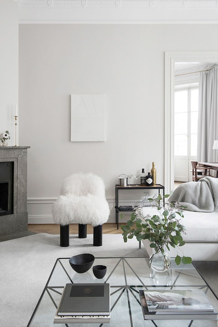 Modern living room in neutral tones