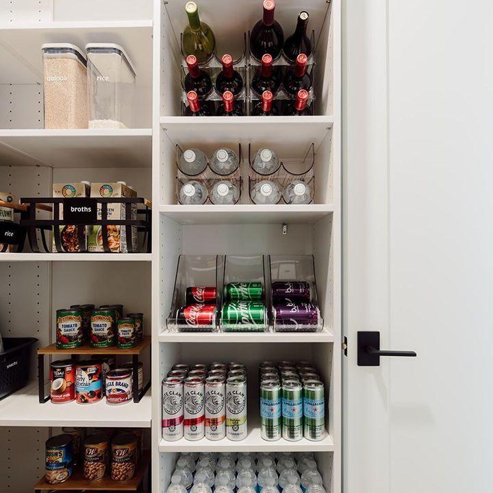 Beverage storage in a kitchen
