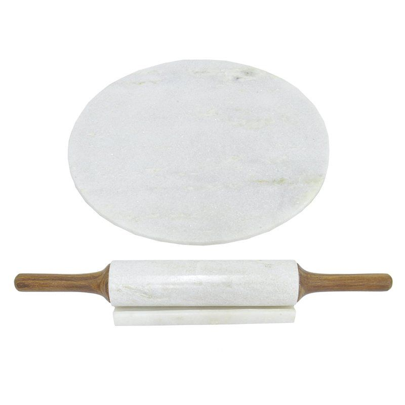 Three Hands Co. Marble and Rolling Pin