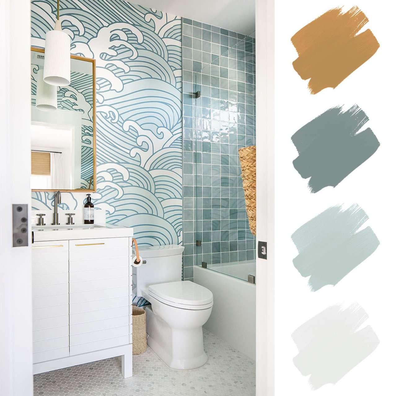 6 Beautiful Bathroom Color Schemes, Color Scheme Ideas For Bathrooms
