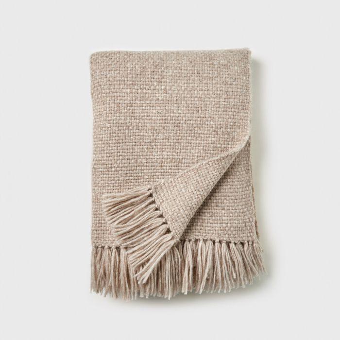 Jenni Kayne Alpaca Basketweave Throw Blanket