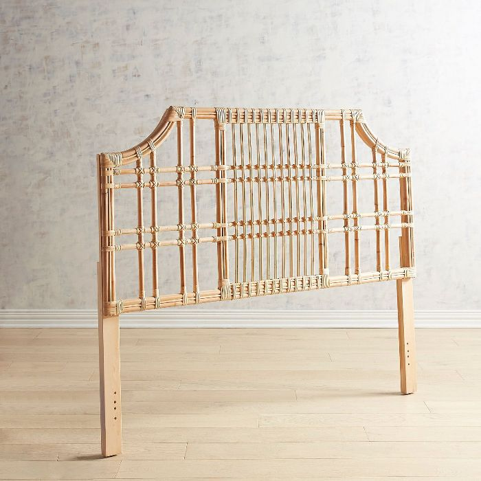 Pier 1 Sungi Natural Rattan Queen Headboard