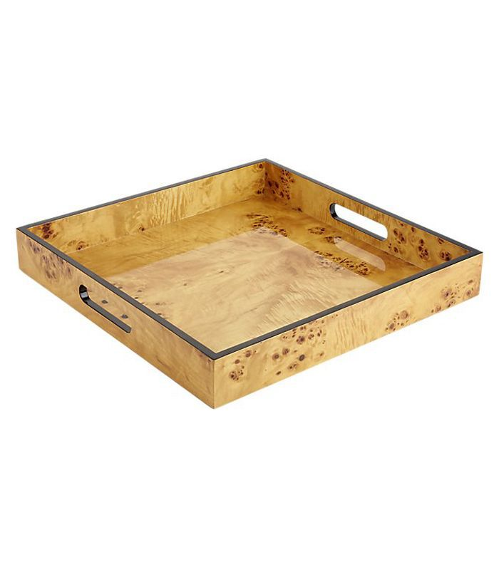 Burl Wood Square Tray
