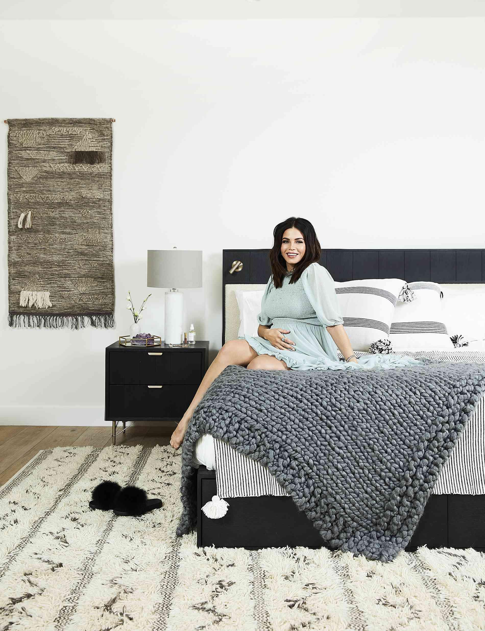 jenna dewan in her master bedroom