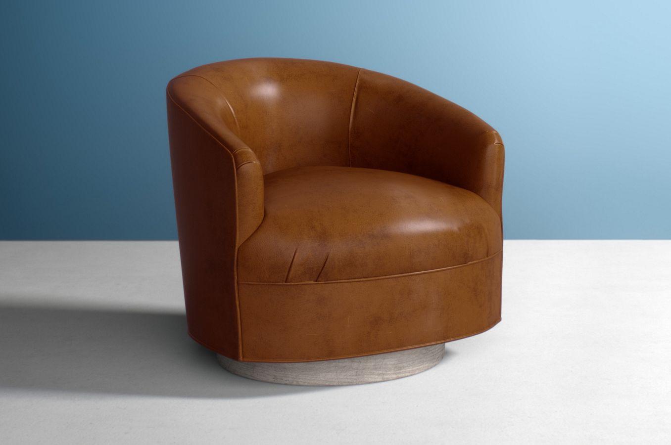 Anthropologie Amoret Swivel Chair