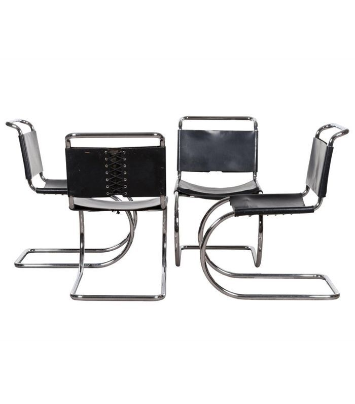 Thonet Mies van der Rohe MR10 Cantilever Chairs and Table