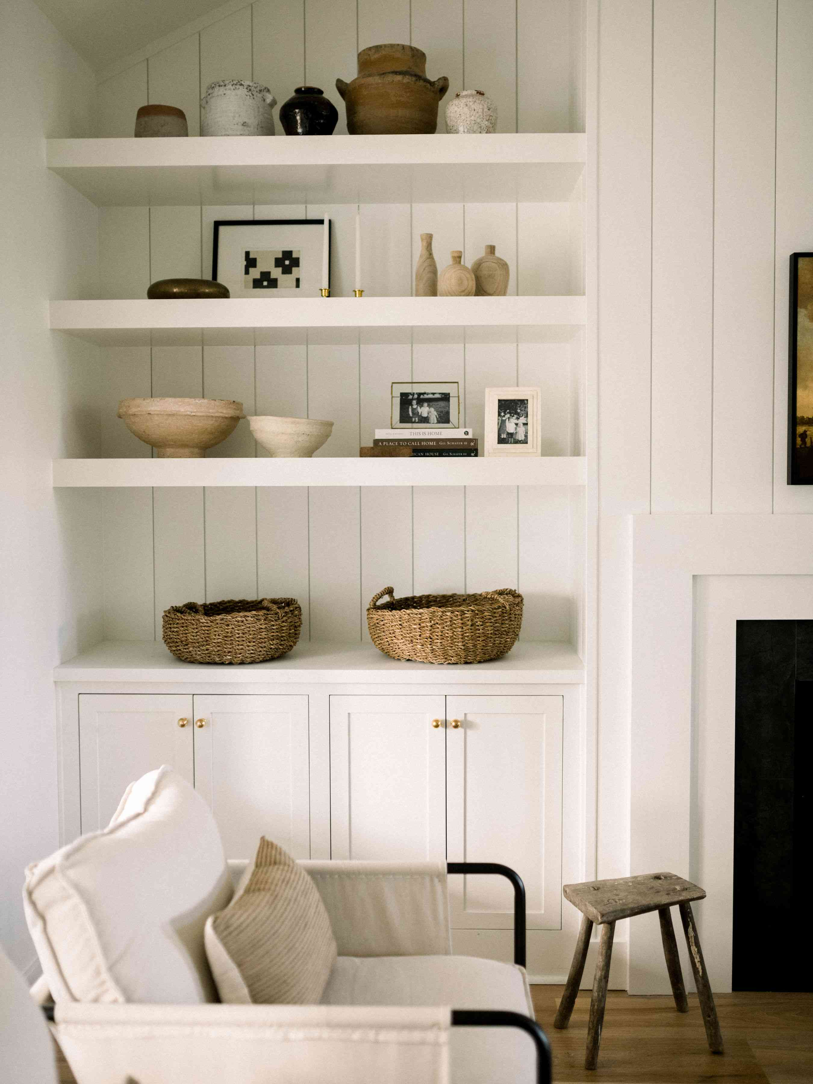 Molly Kidd Home Tour living room bookcase