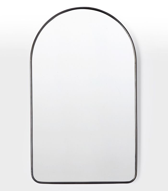 Arched Metal Framed Mirror