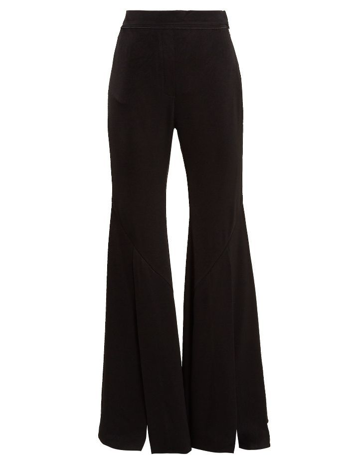 Ellery Higher and Higher wide-flared crepe trousers