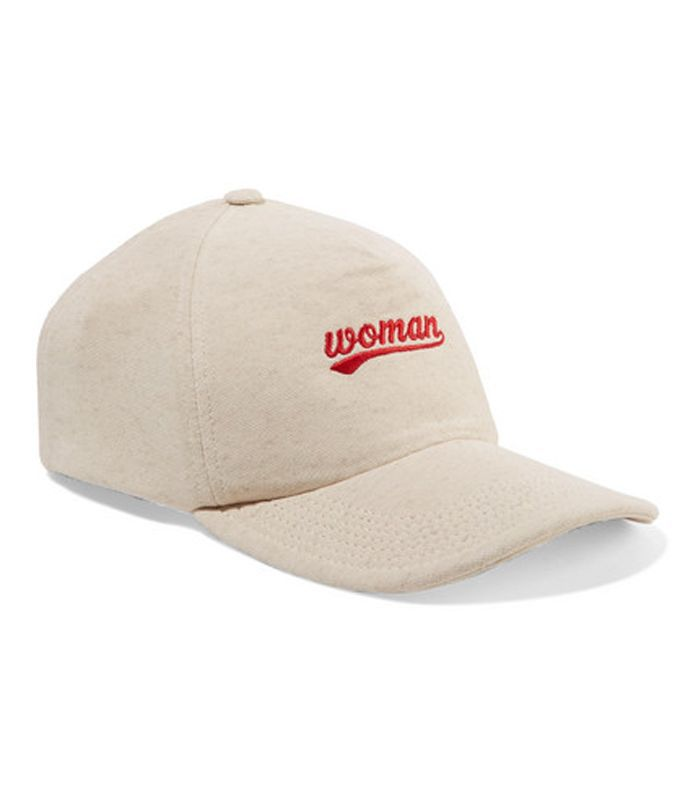 Embroidered Cotton-jersey Baseball Cap