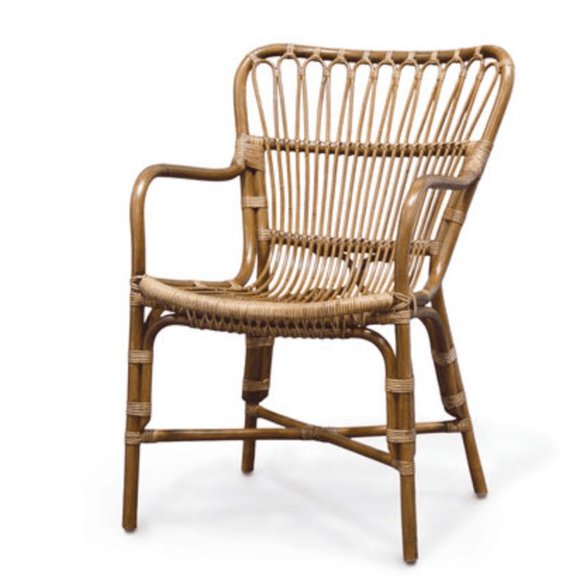 rattan dining chair retro