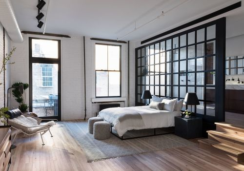 Becky Shea designed loft bedroom.