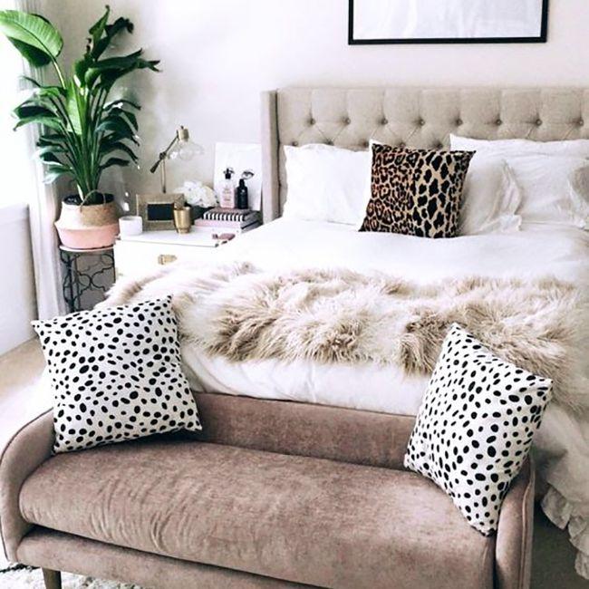 ideas de dormitorio- dormitorio de inquilinos con textura
