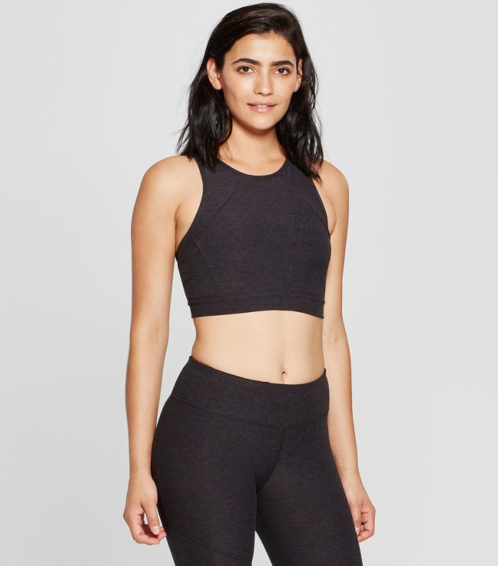JoyLab High-Neck Long-Line Bra Crop Top