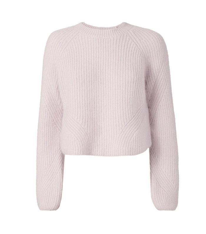 Intermix Luella Cropped Pullover Sweater Purple-Lt S