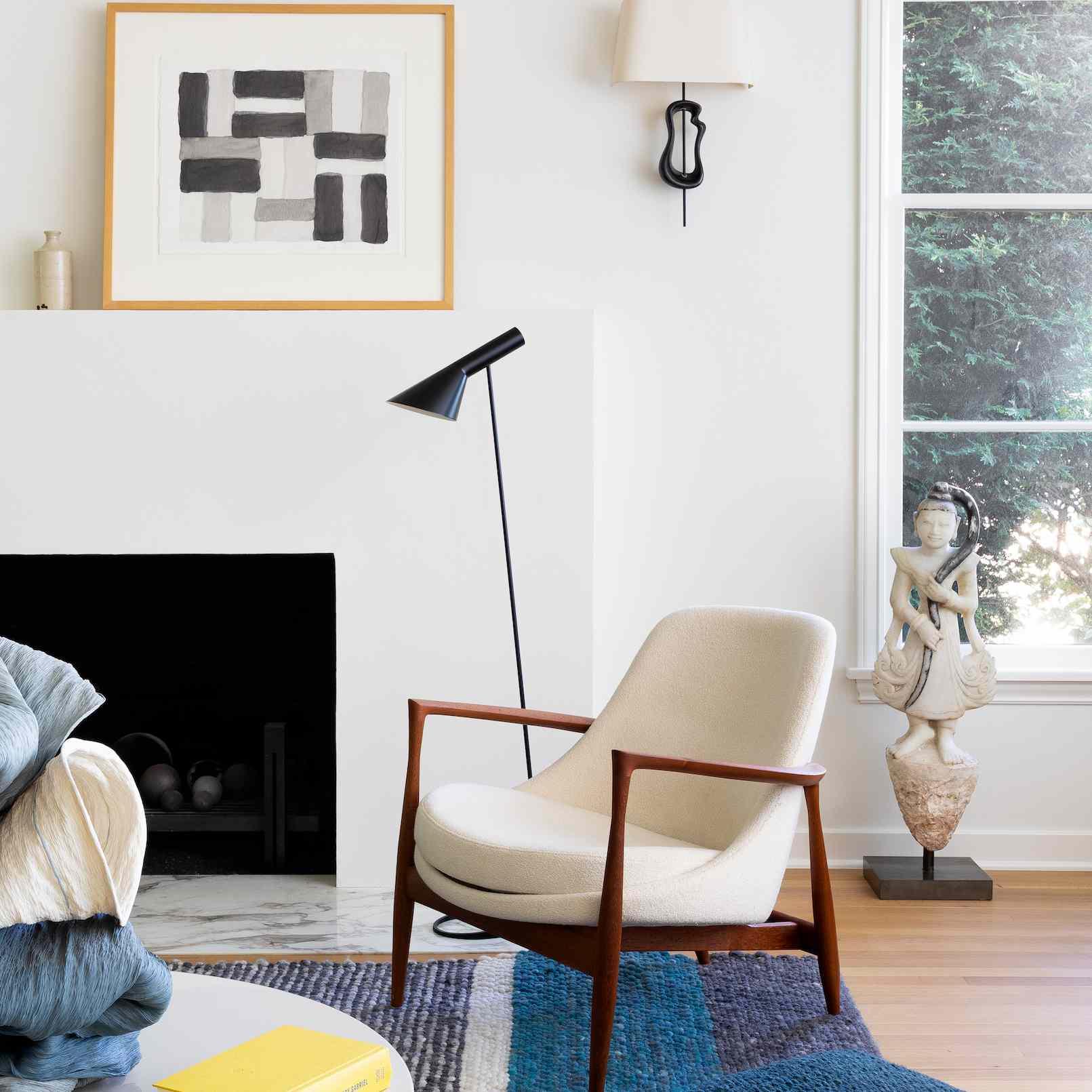 diseño escandinavo de la sala de estar
