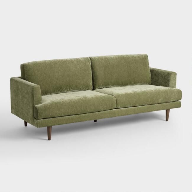 World Market Sage Green Helena Sofa