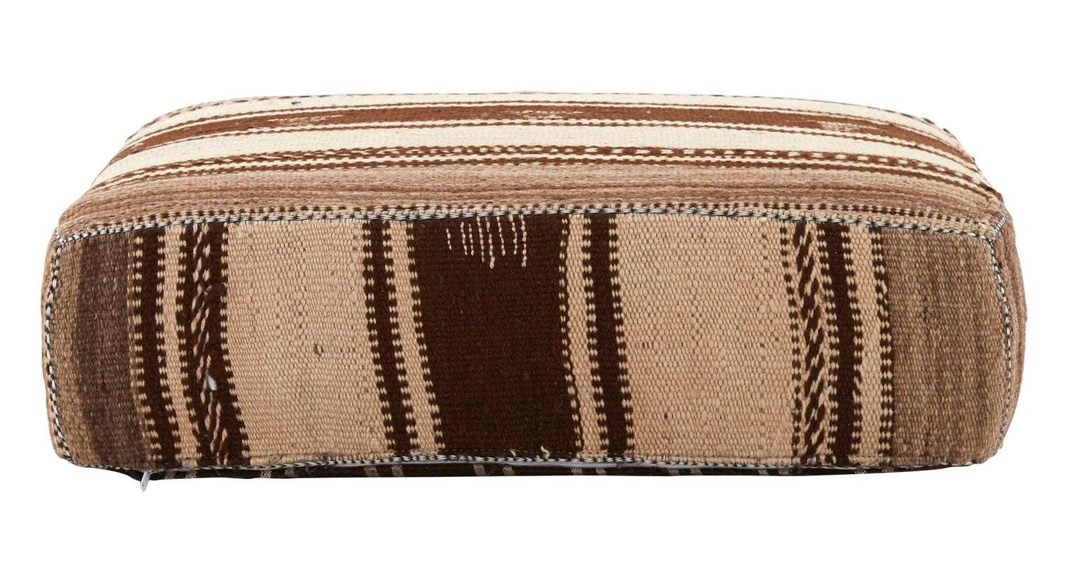 Kilim floor pillow in brown