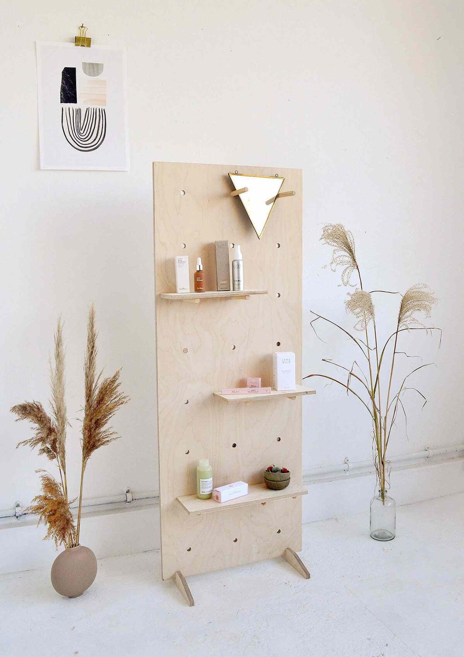 Little Deer Interiors Birch Plywood Pegboard Room Divider