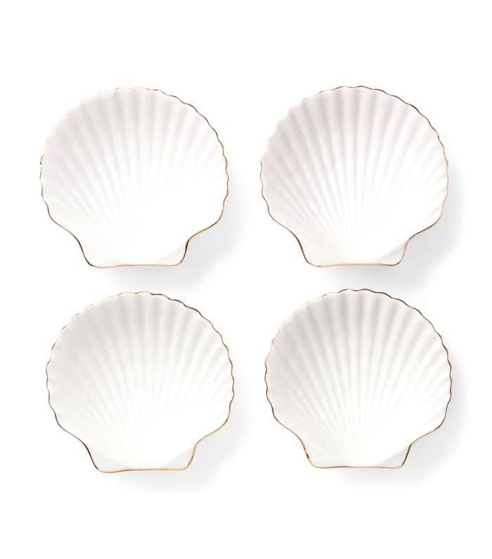 Aerin Set Of 4 Shell Appetizer Plates
