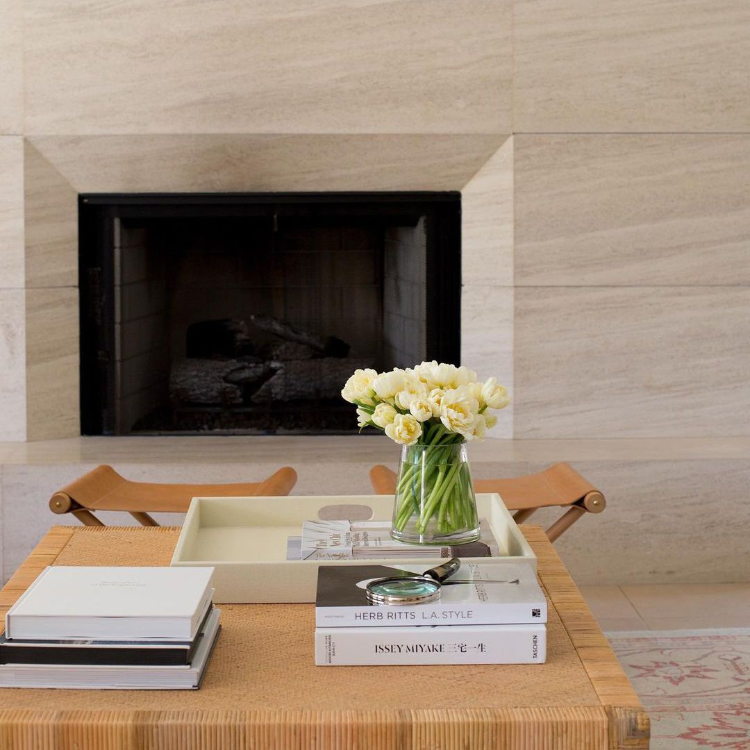 Chic styled coffee table.