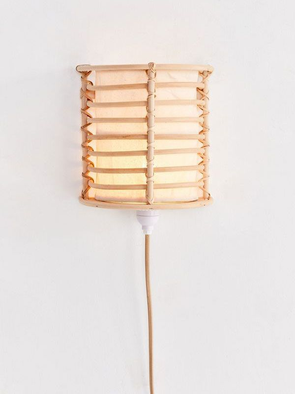 Urban Outfitters Rattan Lantern Sconce