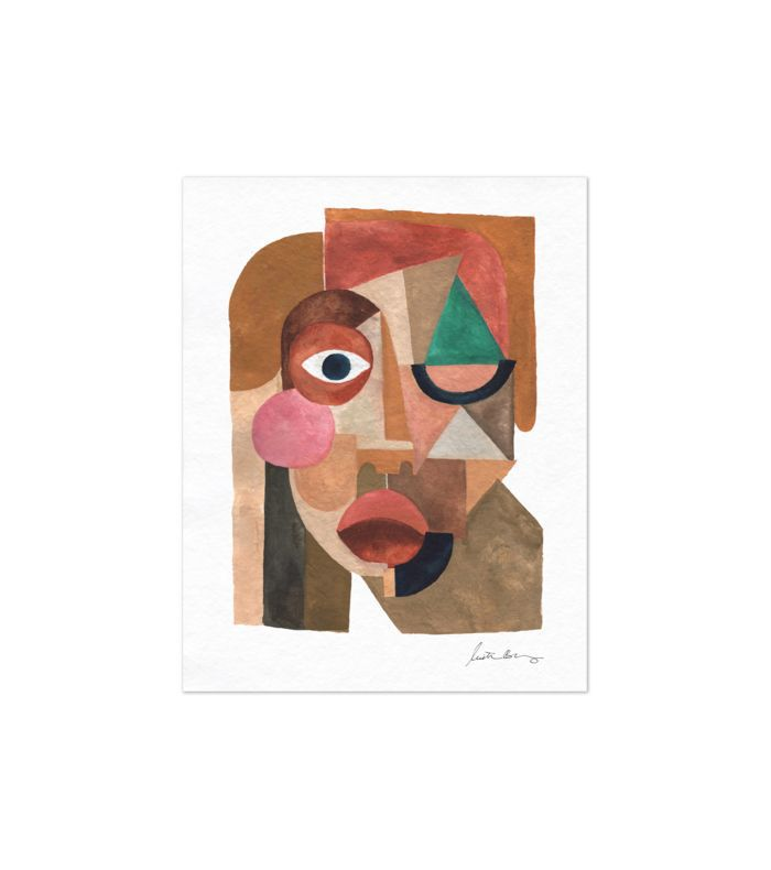 Justina Blakeney Face 1 Art Print
