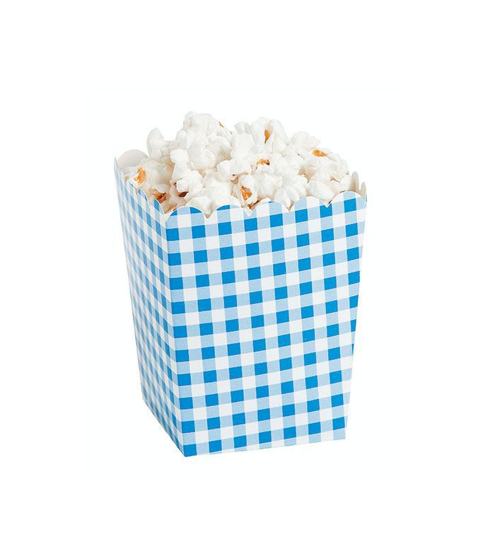 Oriental Trading Blue Gingham Popcorn Boxes