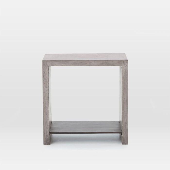 West Elm Industrial Concrete Side Table