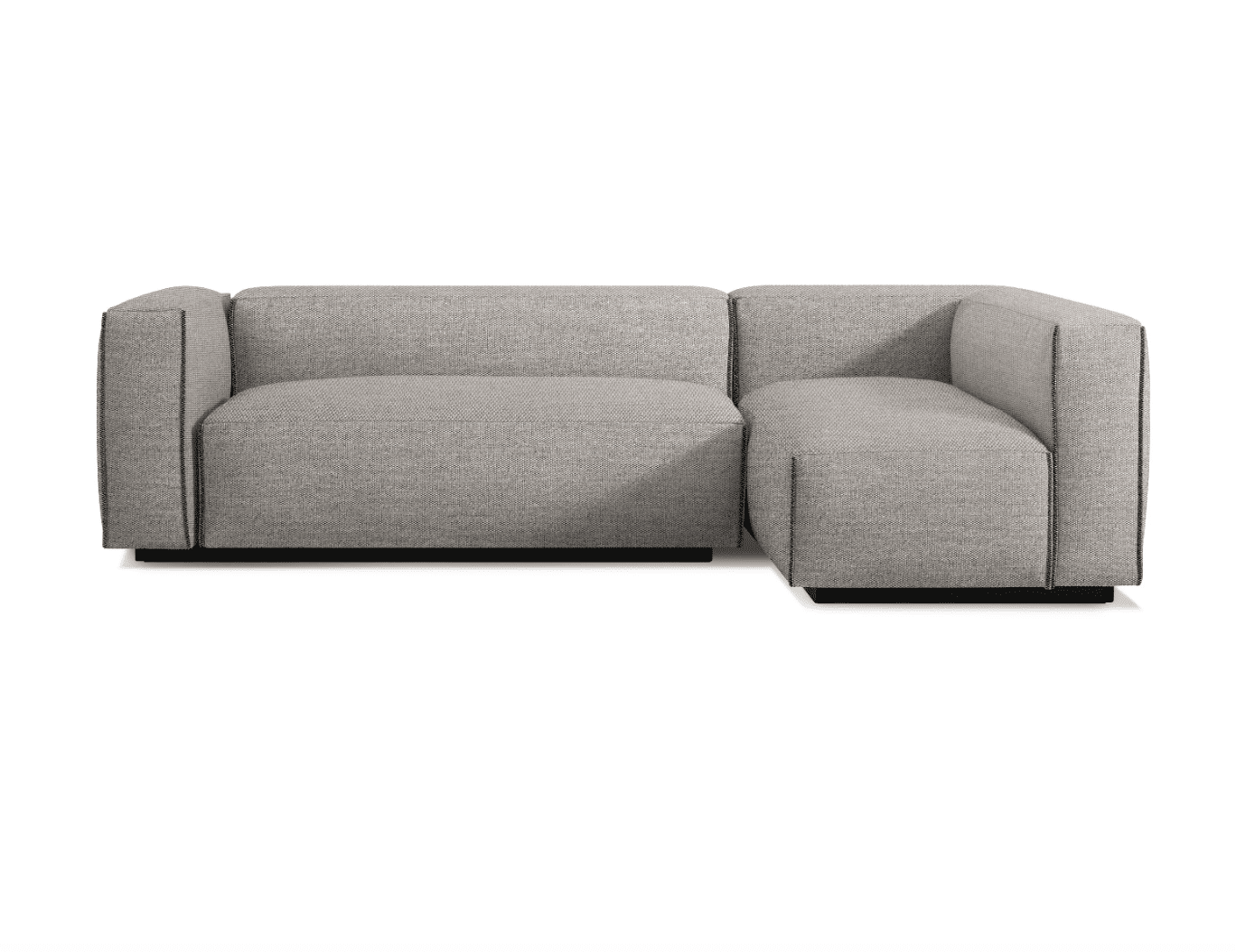 Cleon Small Sectional Sofa by Blu Dot in Tait Charcoal