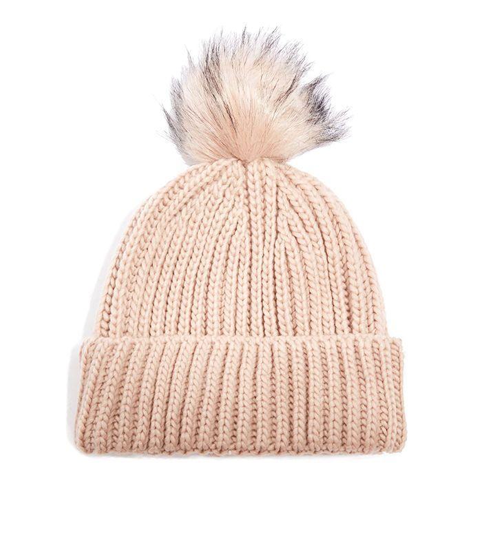 Topshop Pom Pom Beanie Hat