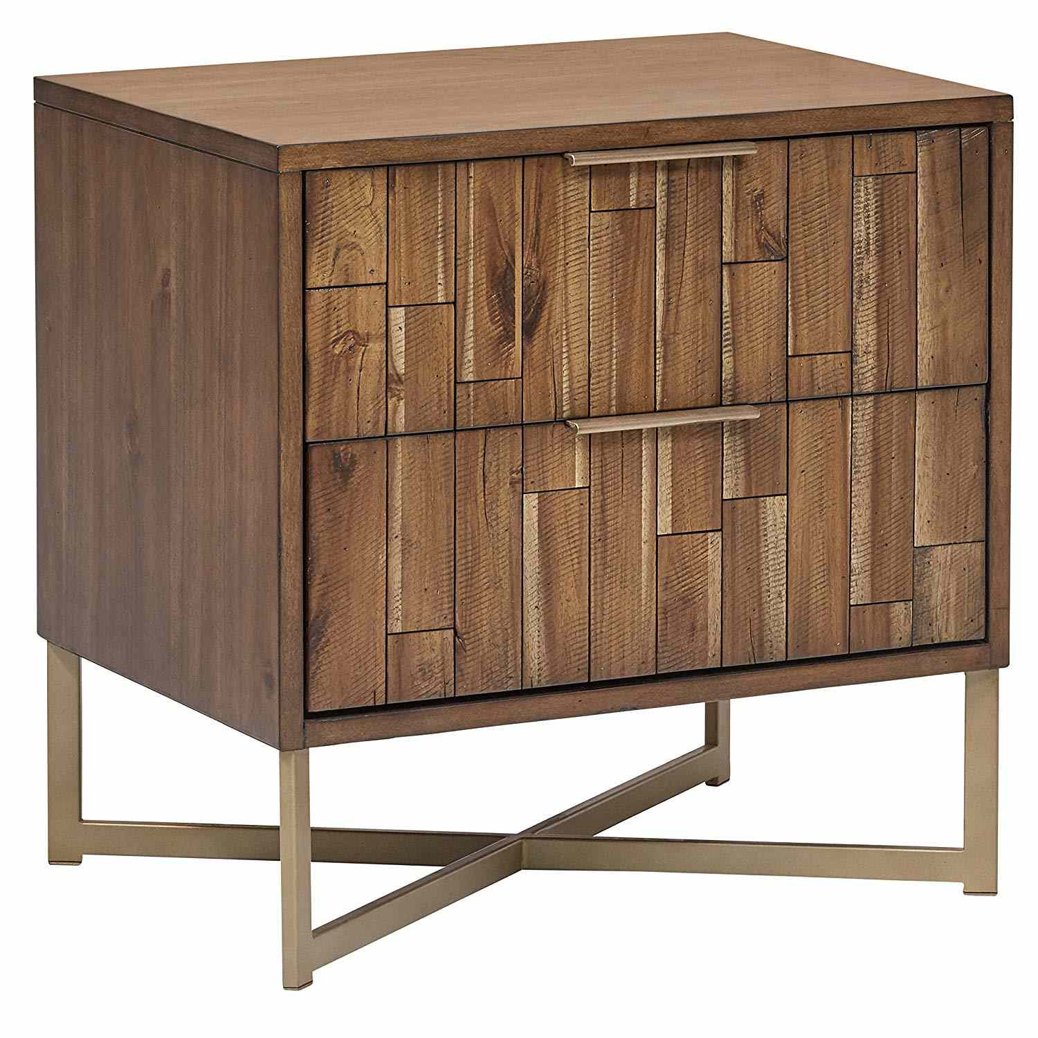 Bateman Casual Wood Nightstand