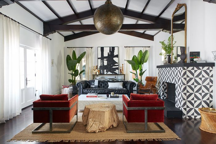 Shay Mitchell—living room