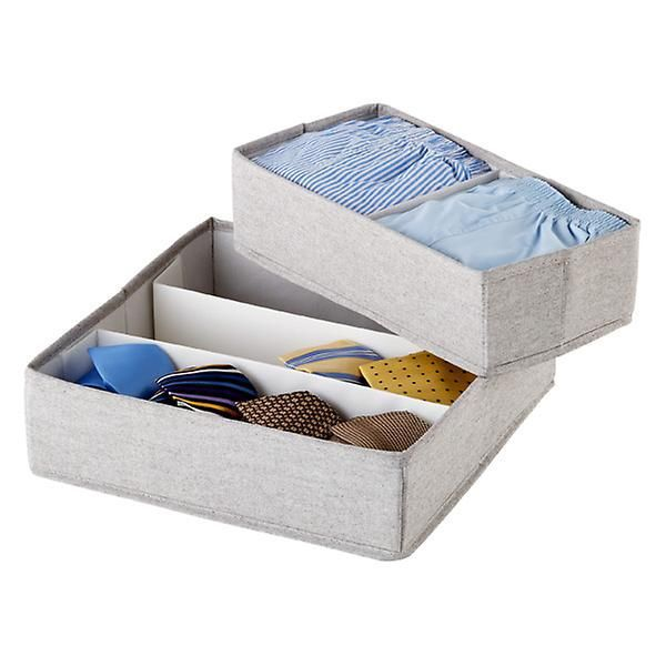 The Container Store Twill Drawer Organizers