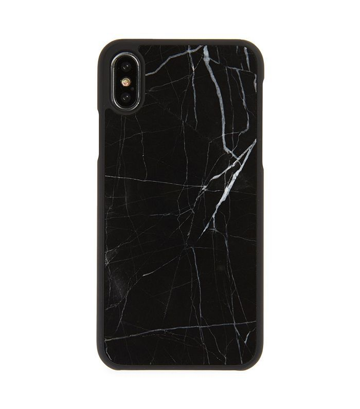 Felony Case Genuine Black Marble iPhone X Case