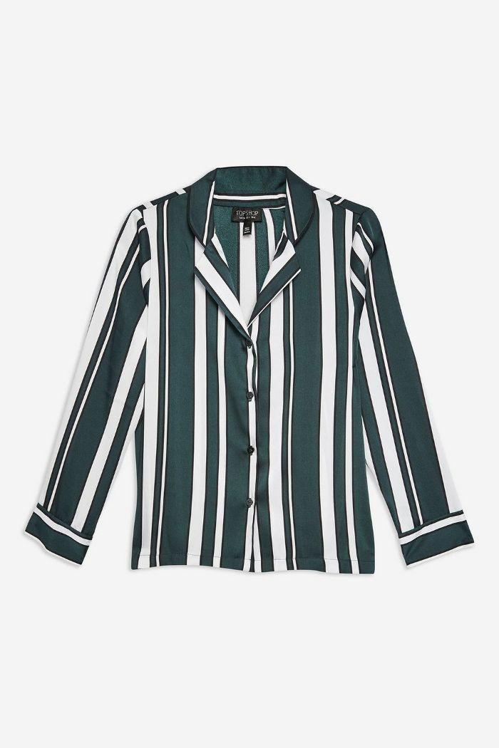 Topshop PETITE Stripe PJ Style Shirt