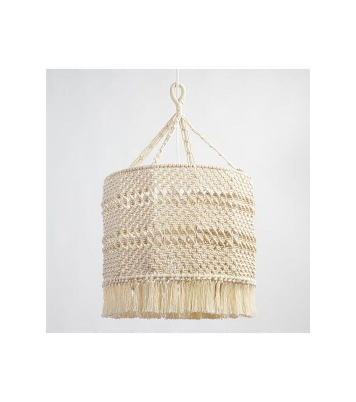 Natural Macrame Deja Drum Pendant Shade by World Market