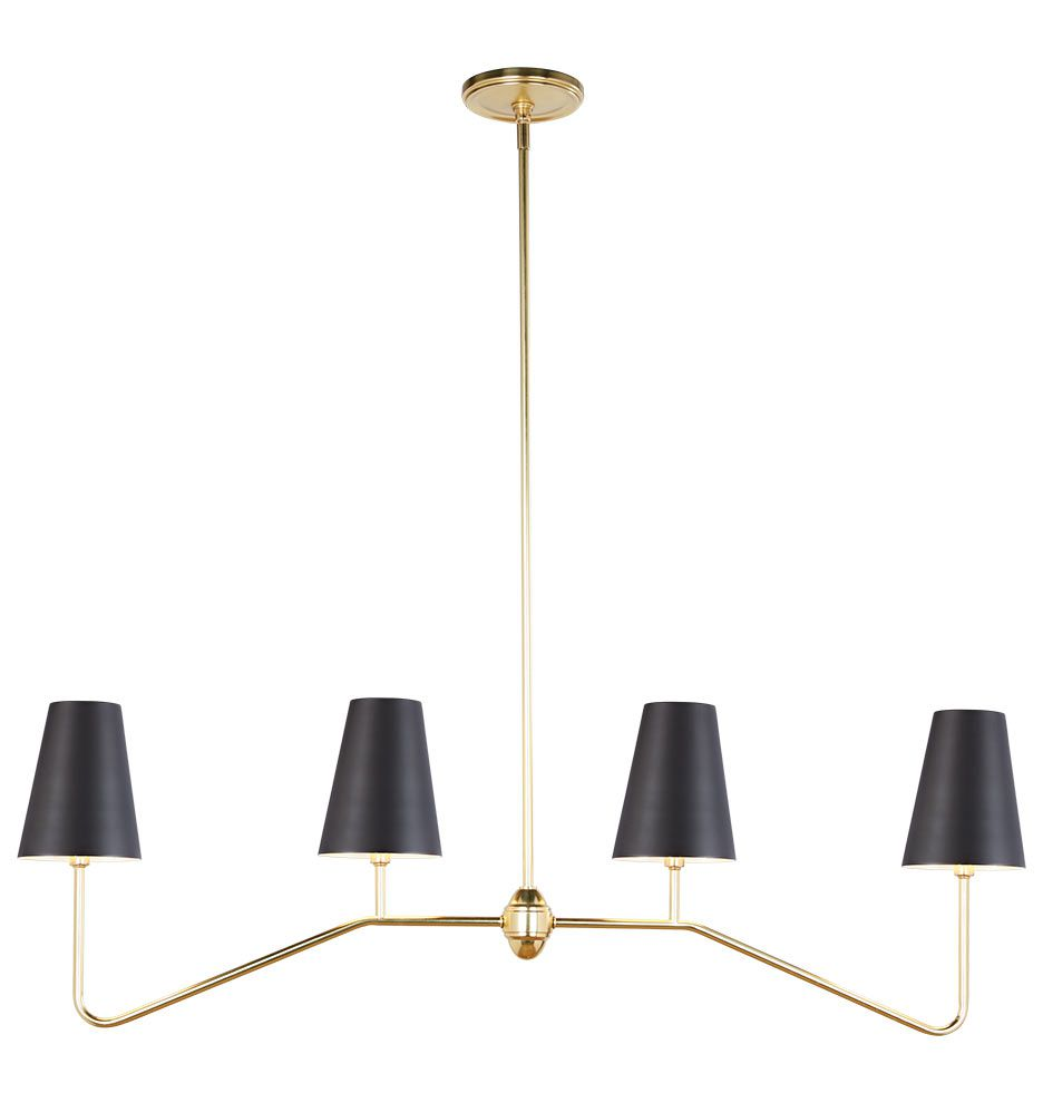 Berkshire Linear Pendant with Metal Shades