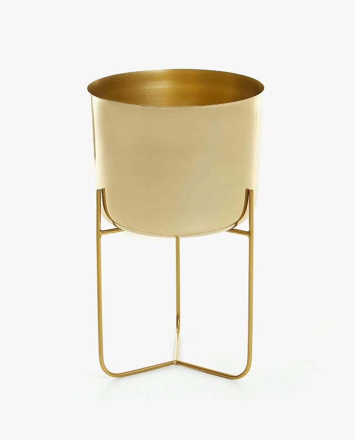 Zara Home Gold Iron Flowerpot