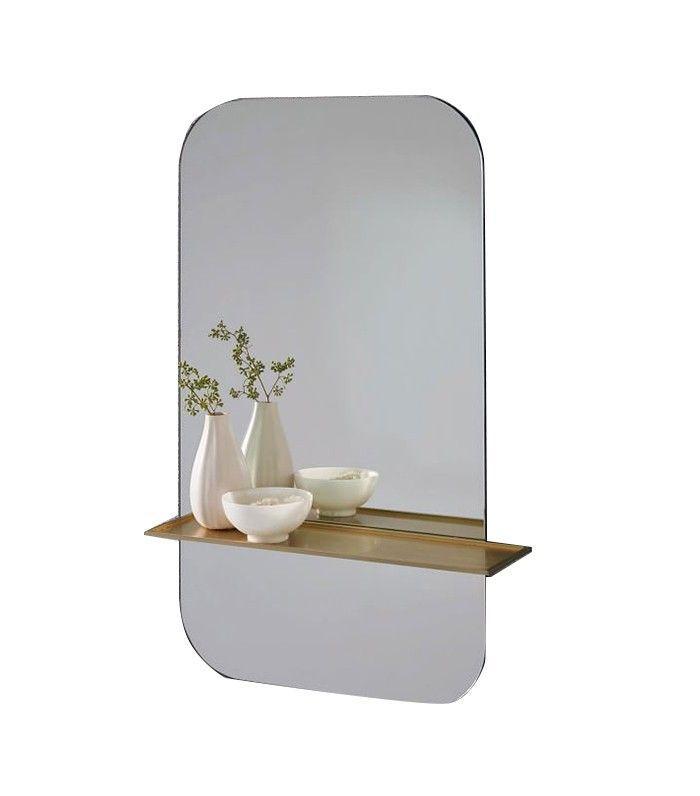 West Elm Floating Shelf Wall Mirror