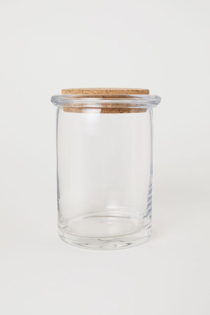 H&M Tall Glass Storage Jar