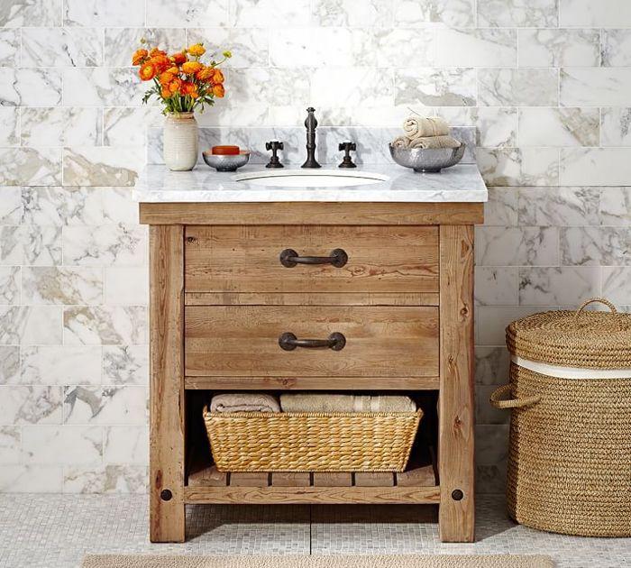 Pottery Barn Benchwood Single Sink Vanity