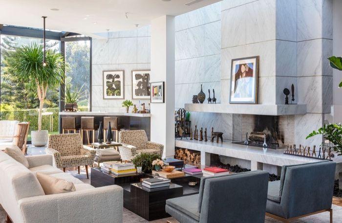 Ellen Degeneres Beverly Hills Home   Living Room